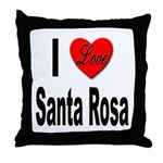 I Love Santa Rosa Throw Pillow