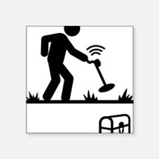 "Metal-Detecting-AAA1 Square Sticker 3"" x 3"""