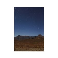 Star trails over the Amphitheatre Rectangle Magnet