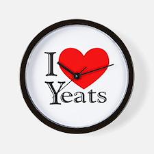 I Love Yeats Wall Clock