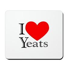 I Love Yeats Mousepad