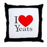 I Love Yeats Throw Pillow