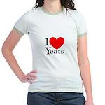 I Love Yeats Jr. Ringer T-Shirt