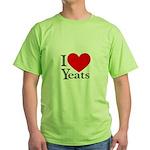 I Love Yeats Green T-Shirt
