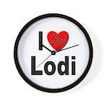 I Love Lodi Wall Clock
