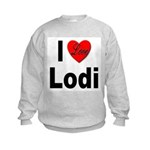 I Love Lodi Kids Sweatshirt