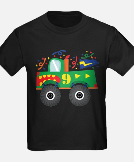 9th Birthday Monster Truck T-Shirt