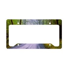 Country road, great smoky mou License Plate Holder