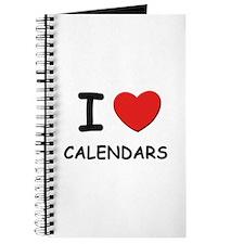 I love calendars Journal