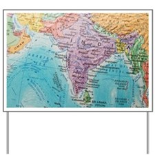 Global view of India Yard Sign
