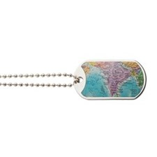 Global view of India Dog Tags