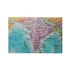 Global view of India Rectangle Magnet