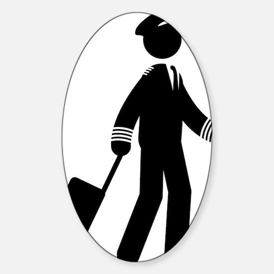 Pilot-AAA1 Sticker (Oval)