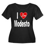 I Love Modesto (Front) Women's Plus Size Scoop Nec