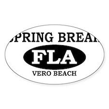 Spring Break Vero Beach, Flor Oval Decal