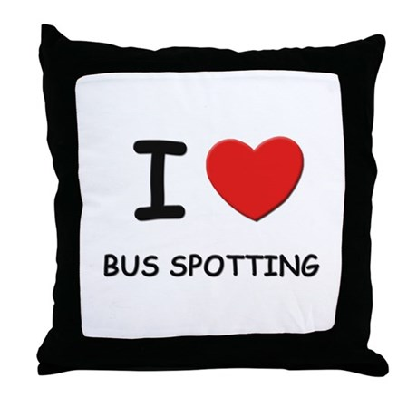 I love bus spotting Throw Pillow