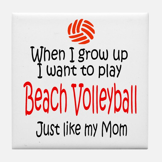 WIGU Beach Volleyball Mom Tile Coaster
