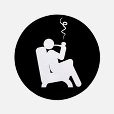 "Pipe-Smoking-AAB1 3.5"" Button"