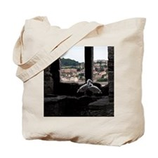 Young gulls in snowy castle Tote Bag