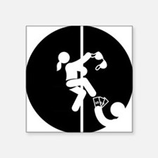 """Pole-Dancing-AAB1 Square Sticker 3"""" x 3"""""""