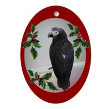 Unique African gray parrot Ornament (Oval)