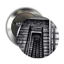 """Black and white stairs 2.25"""" Button"""