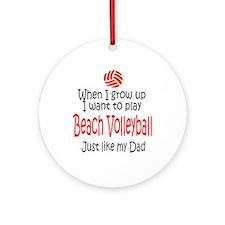 WIGU Beach Volleyball Dad Ornament (Round)