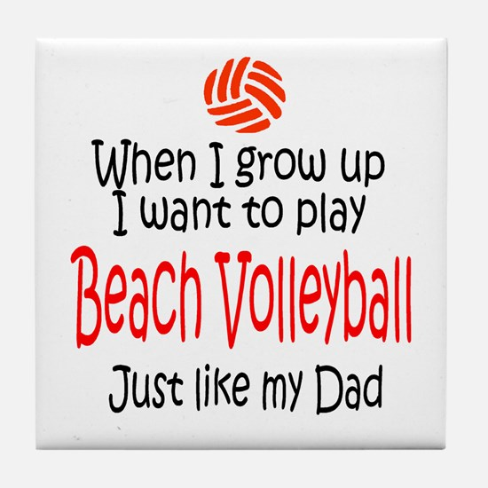 WIGU Beach Volleyball Dad Tile Coaster