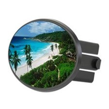 Palm trees Grand Anse La Digue Is Hitch Cover
