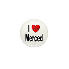 I Love Merced Mini Button (10 pack)