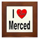 I Love Merced Framed Tile