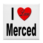 I Love Merced Tile Coaster