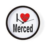I Love Merced Wall Clock