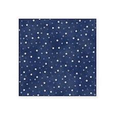 "Stary Night Blue  Square Sticker 3"" x 3"""