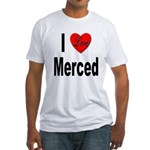 I Love Merced (Front) Fitted T-Shirt