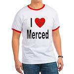 I Love Merced Ringer T