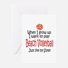 WIGU Beach Volleyball Sister Greeting Cards (Packa