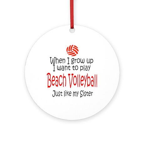 WIGU Beach Volleyball Sister Ornament (Round)