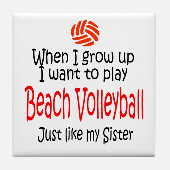 WIGU Beach Volleyball Sister Tile Coaster