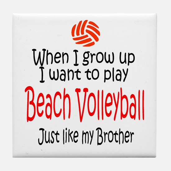 WIGU Beach Volleyball Brother Tile Coaster