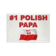 #1 Polish Papa Rectangle Magnet