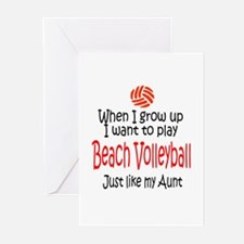 WIGU Beach Volleyball Aunt Greeting Cards (Package