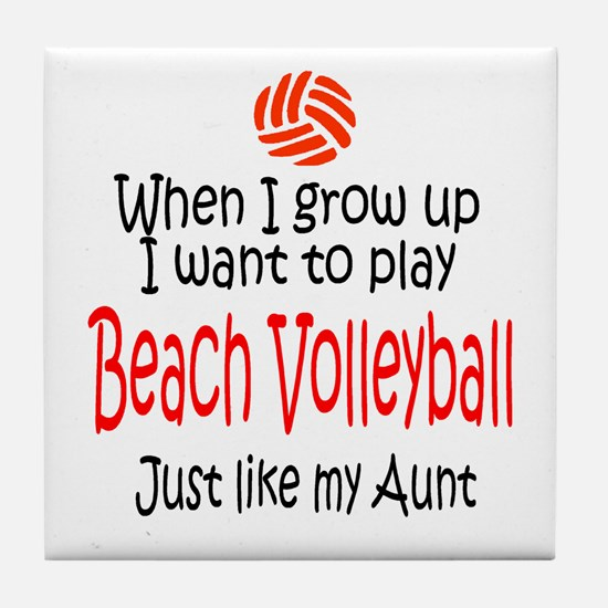 WIGU Beach Volleyball Aunt Tile Coaster