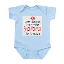 WIGU Beach Volleyball Aunt Infant Bodysuit