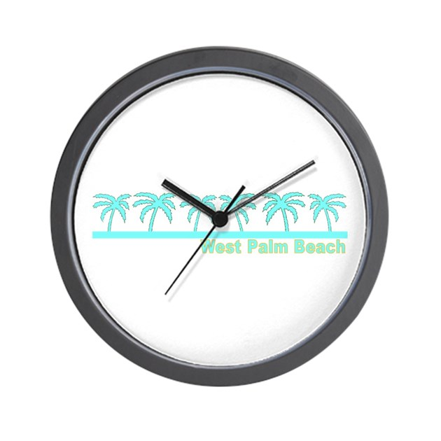 West Palm Beach Florida Wall Clock By Floridasaurus
