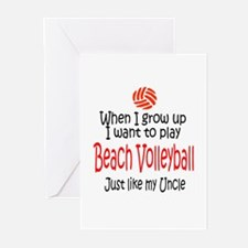 WIGU Beach Volleyball Uncle Greeting Cards (Packag