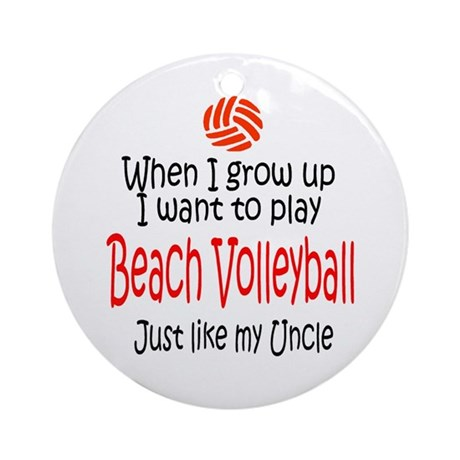 WIGU Beach Volleyball Uncle Ornament (Round)