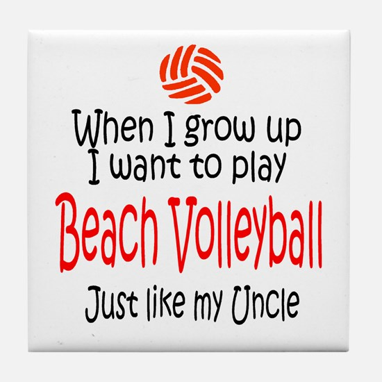 WIGU Beach Volleyball Uncle Tile Coaster