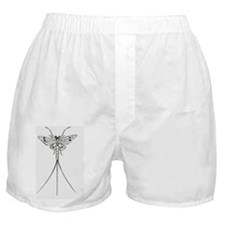 Black and white illustration of a may Boxer Shorts