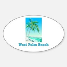 West Palm Beach, Florida Oval Decal